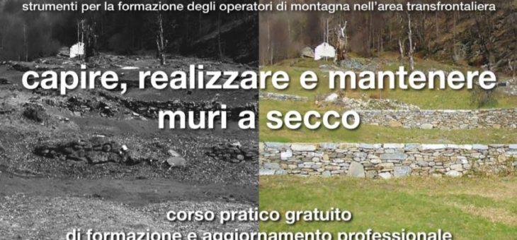 """""""Capire, realizzare e mantenere muri a secco"""":  corso gratuito dal 14 al 19 ottobre in Val Mesolcina (Svizzera)"""